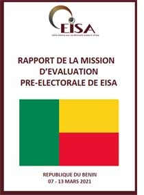 Benin Pre-Election Assessment Mission Report cover