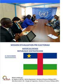 CAR Pre-Election Assessment Mission Report cover