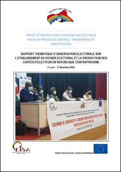 Cover of the REC LTO Report on voter registration and the voters' roll