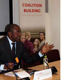 EISA Executive Director Denis Kadima speaks at the publication launch