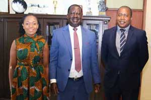 Meetings with key stakeholders: former Prime Minister and ODM Leader Raila Odinga