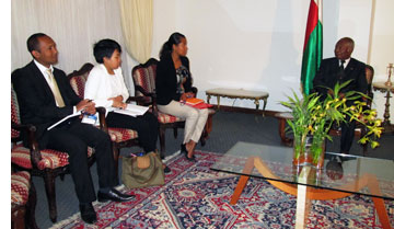 EISA Madagascar meets with Senate Chairperson