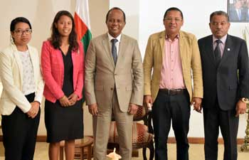 EISA  Madagascar met with the Speaker of the Senate, Rivo Rakotovao, on 11 April 2018