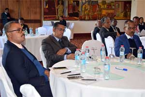 MPs from the Senate during the Seminar on international treaties, in Antananarivo
