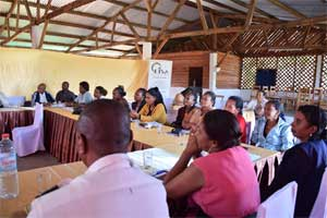 Participants in the dialogue betwen CSOs and MPs on women's inheritance rights in Atsimo Atsinanana region