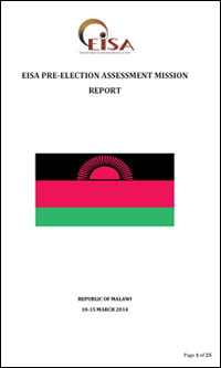 Cover: 2014 EISA Pre-Election Assessment Mission Report