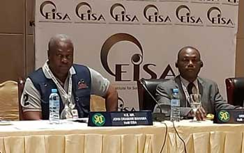 Release of the EISA EOM preliminary statement by mission leaders at a press conference on 17 Oct 2019