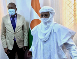 EISA Executive Director Mr Denis Kadima with the Prime Minister of Niger, His Excellency Mr. Rafini Brigi
