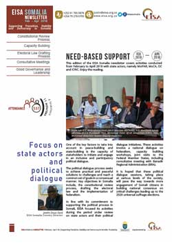 EISA Somalia Newsletter 4, Feb - Apr 2018 - Cover