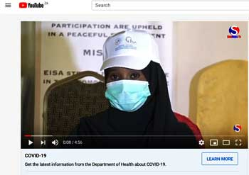 Video: Sensitization and awareness campaigning to minimize COVID-19's impact on the Somali election