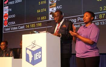 2019 IEC election Results Centre: EISA EOM's preliminary report release