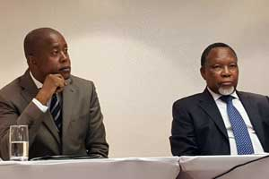 EISA Executive Director Denis Kadima and and former South African Deputy President Kgalema Motlanthe