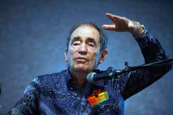 Keynote speaker, Albie Sachs, retired South African Constitutional Court judge