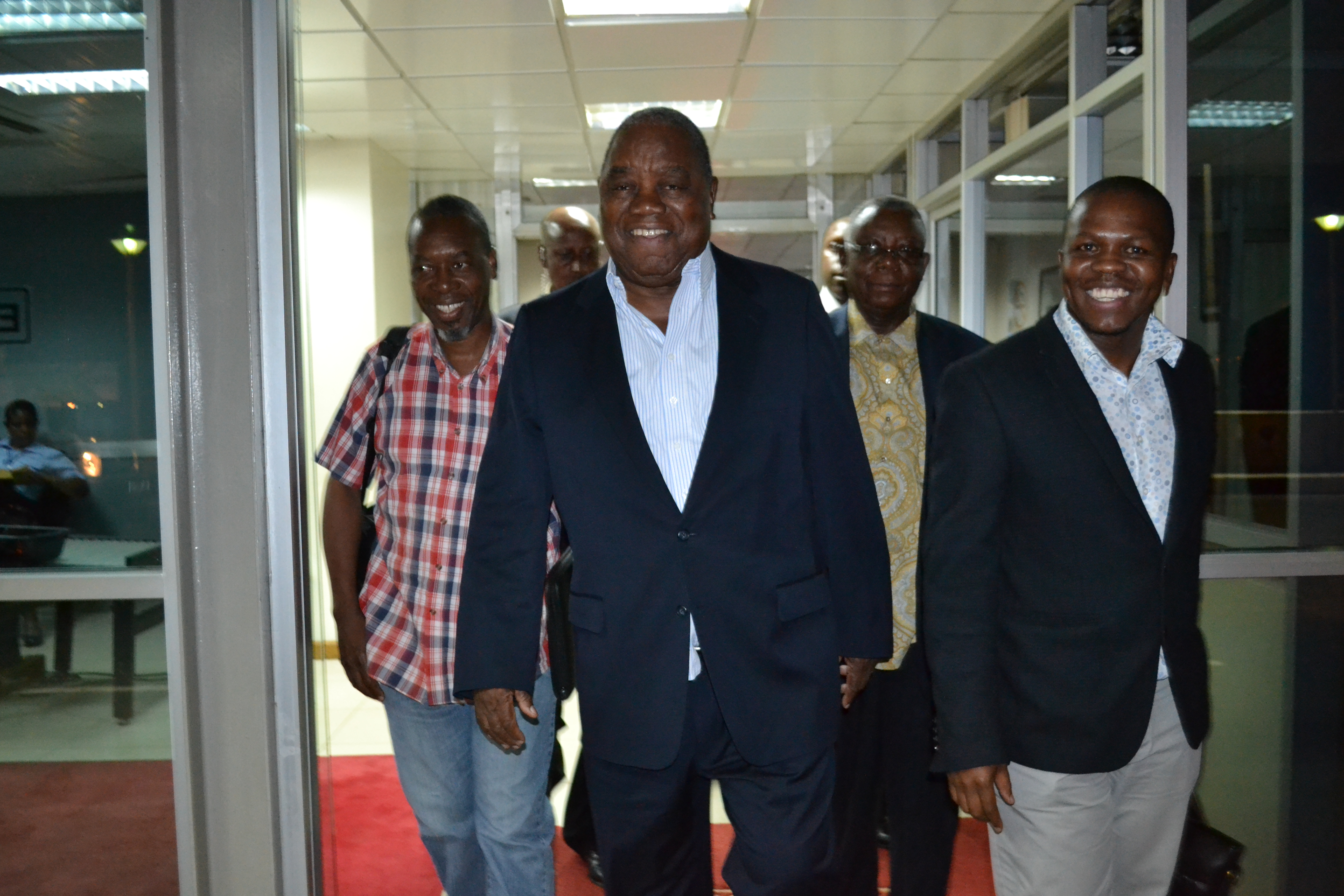 Arrival of Mission Leader, Former Zambian President Rupiah Banda