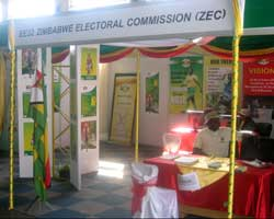 ZEC exhibition stand at the Harare agricultural show