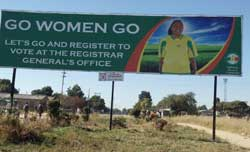 Installation of Voter Education Billboards begins in earnest