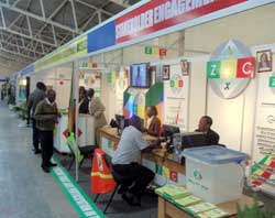 ZEC public outreach stand at the Zimbabwe International Trade Fair, April 2013