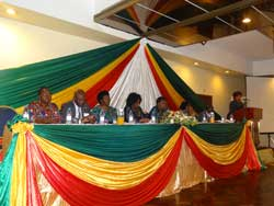 ZEC Commissioners at a two day All-Stakeholders voter registration conference, April 2014