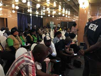 ZEC's first press briefing on election day, 30 Jul 2018