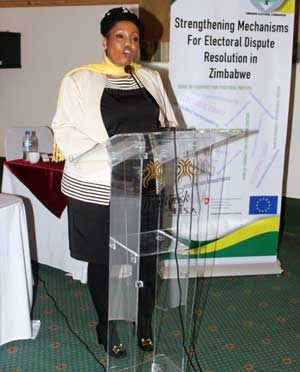 Presentation at follow up workshop on strengthening electoral dispute resolution
