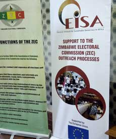 ZEC's three day workshop to develop voter education campaign materials, early 2018